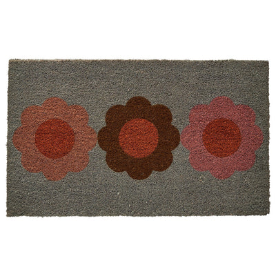 Jojo Jute Door Mat in a multi-coloured floral design