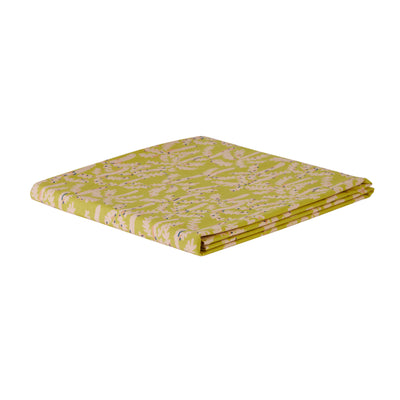 soft cotton fitted sheet, king single, single, palm tree print, lemon yellow