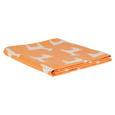 Jemima Cotton Flat Sheet Llamas Orange