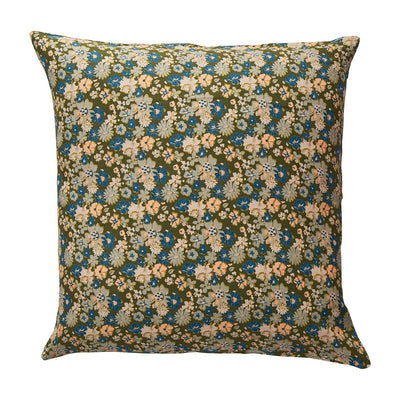 Loveat Linen Euro Pillowcase in a multi-coloured vintage floral design