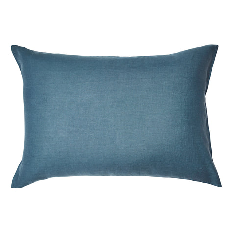 Linen Standard Pillowcase Set Aegean