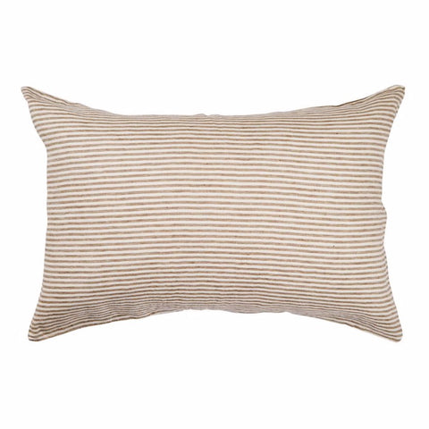 Linen Standard Pillowcase Set - Moss Stripe