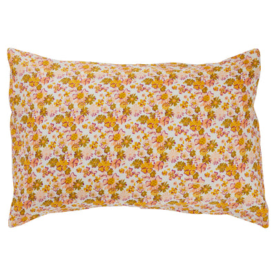 loveat european flax linen floral pillowcase set in soda