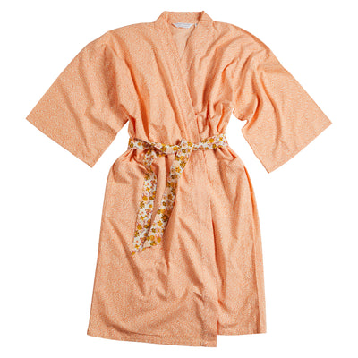 maika animal leopard print linen blend robe