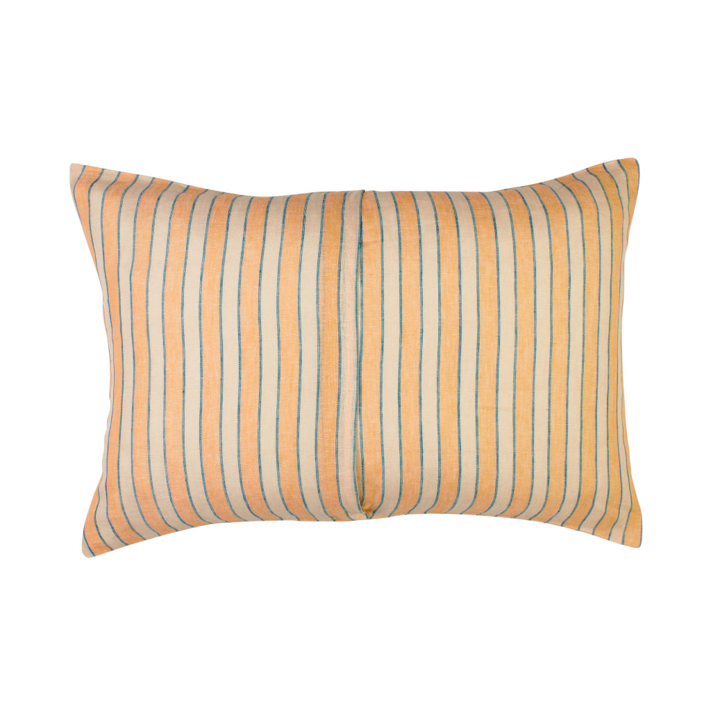 pink coral and blue stripe pillowcase set