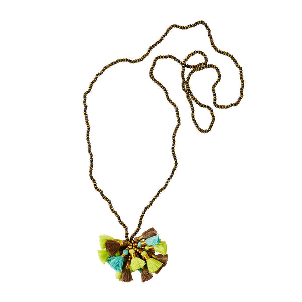 Multicolour Long Tassle Necklace