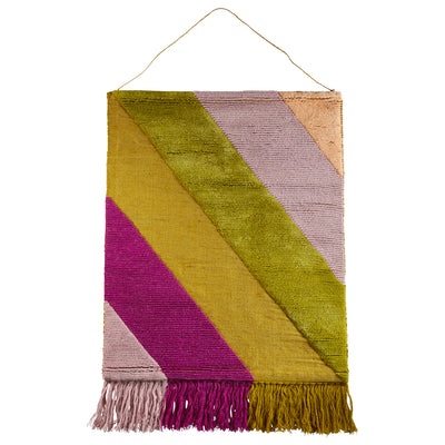 naeva tufted woven diagonal stripe wall hanging sage x clare