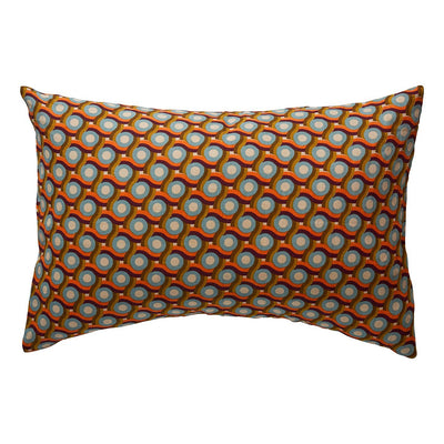 Oli Linen Pillowcase in a multi-coloured circular geometric print