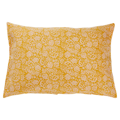 ohana european flax linen floral pillowcase in sunflower