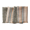 Pasa Napkin Set in Saltbush with leopard print and striped designs