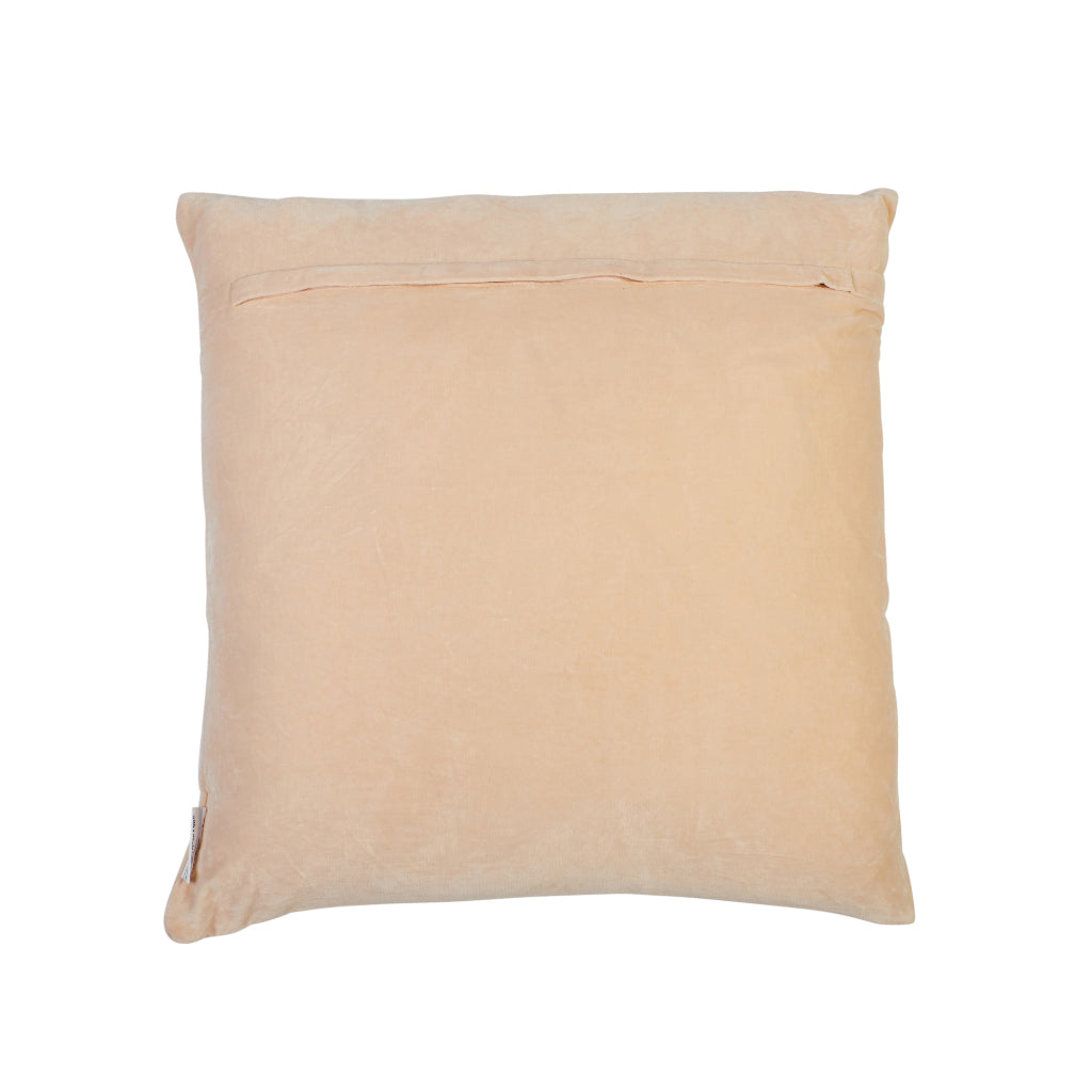 Pascal embroidered arch cream parchment velvet sham cushion