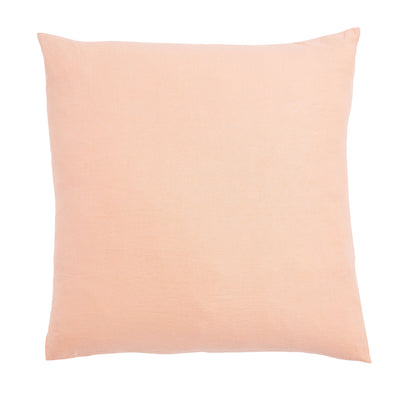 Peach Puff French Flax Linen Euro Pillowcase Set