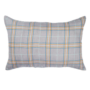 Penida Check Linen Pillowcase Set - Lavender