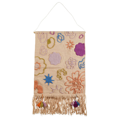 pepin woven wall hanging with fringe detail