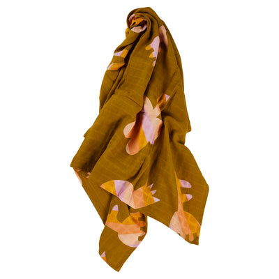 Razo Cotton Muslin Baby Wrap Dog Bird Flower