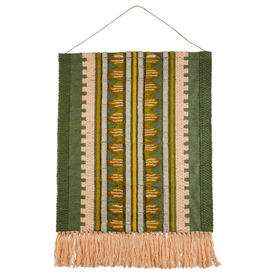 remy hand woven wool wall hanging with geometric desgin