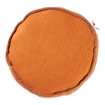 rylie round filled cushion melon
