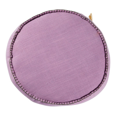 rylie round filled cushion in violet