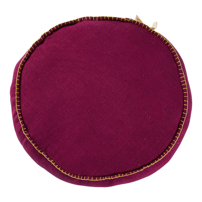 rylie round filled cushion in grape