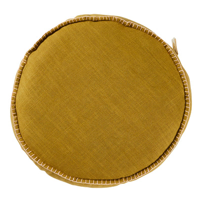 rylie round filled cushion in pear