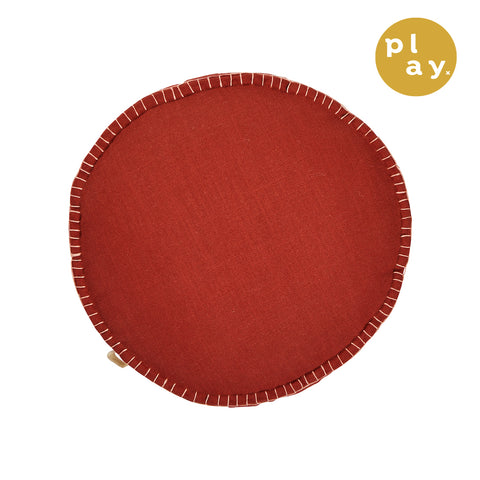 Rylie Round Cushion - Brick