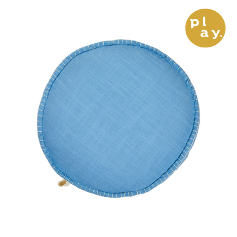 Rylie Round Cushion - Cornflower