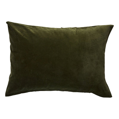 Simo Velvet Pillowcase in Khaki