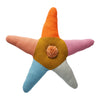 Viola Star Cushion in multi-colour and a centred pom pom