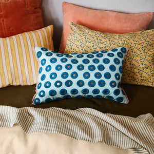 cantaloupe coral cotton velvet standard pillowcase