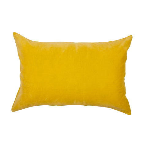 lemon yellow cotton velvet standard pillowcase