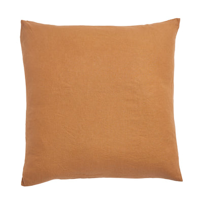 Tan French Flax Linen Euro Pillowcase Set