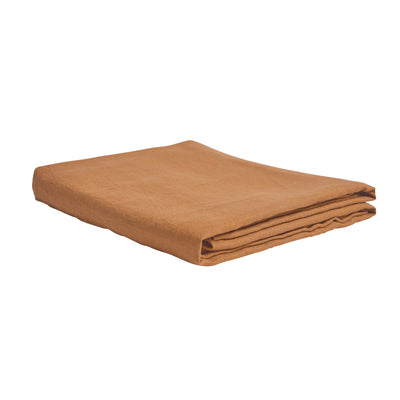 Tan French Flax Linen Fitted Sheet