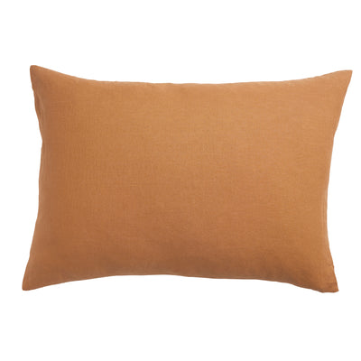 Tan French Flax Linen Standard Pillowcase Set