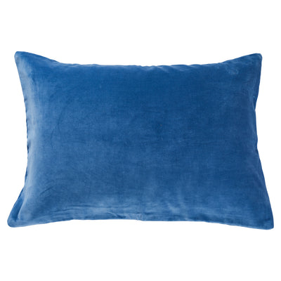 tanis cotton velvet pillowcase cornflower