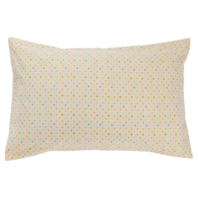 Teeny Cotton Pillowcase Polka Dot Hazelnut