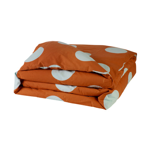 Tili cotton percale oversized hand printed polka dot kids quilt cover