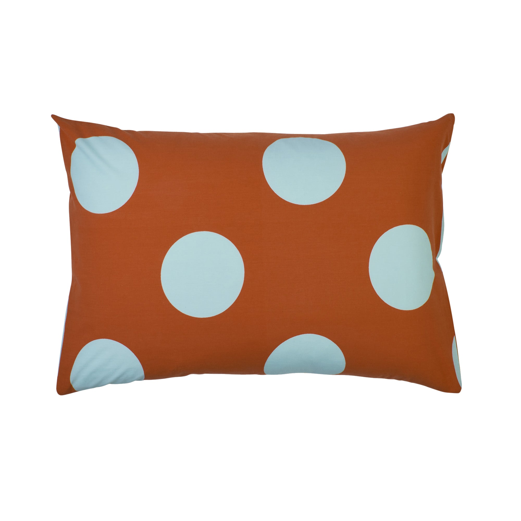 hand printed large polka dot standard cotton kids pillowcase