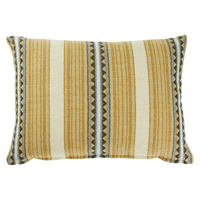 Toto Hand Woven Geometric Stripe Cushion Pear Sage x Clare