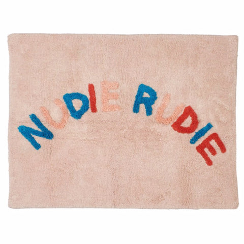 Tula nudie rudie cotton tufted bath mat in multicolour