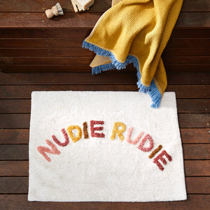 multi coloured nudie rudie cotton tufted bath mat