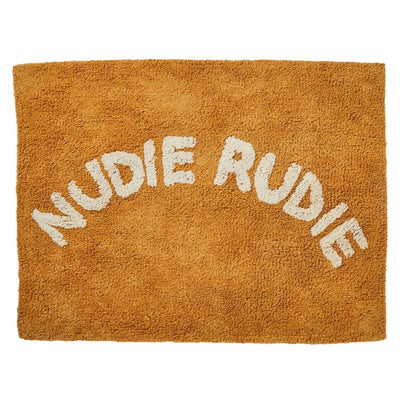 mustard nudie rudie cotton tufted bath mat