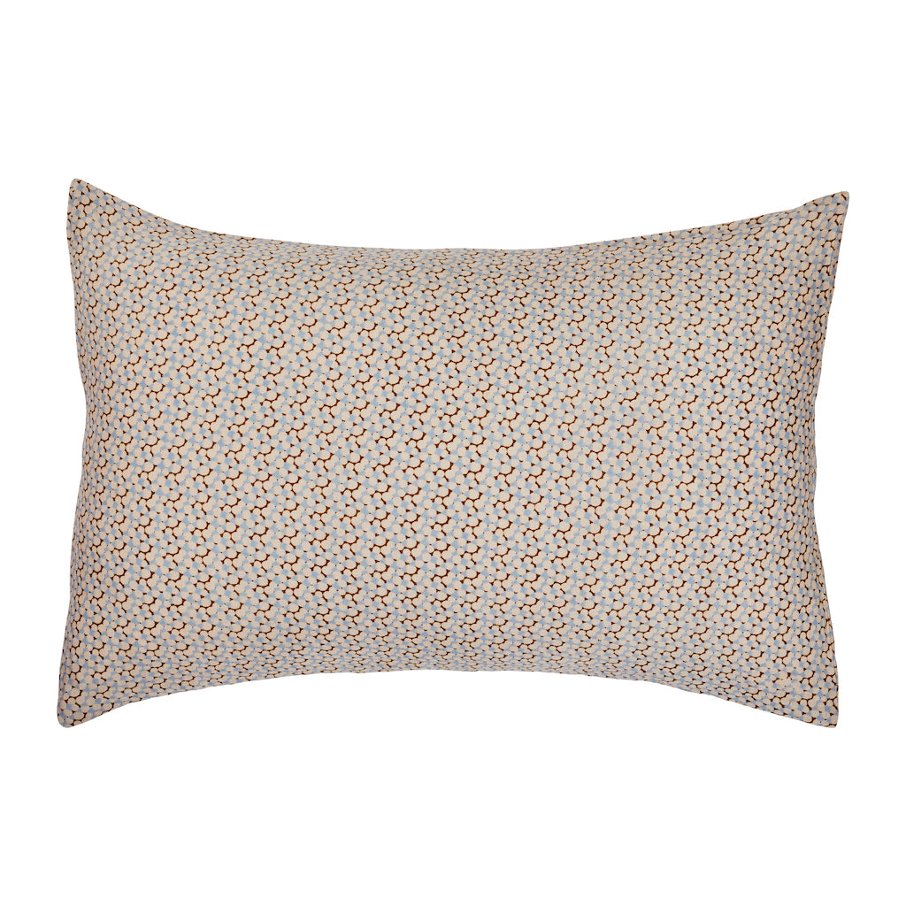 speckled spot hand printed linen pillowcase