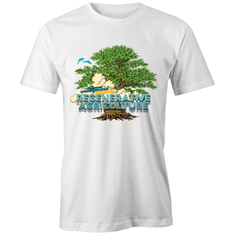 'Tree cloud' Etiko - Unisex Fairtrade Organic Crew Tee
