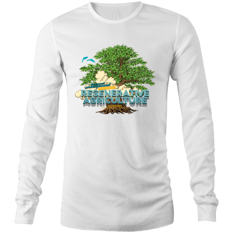 'Tree cloud' AS Colour Base - Mens Long Sleeve T-Shirt