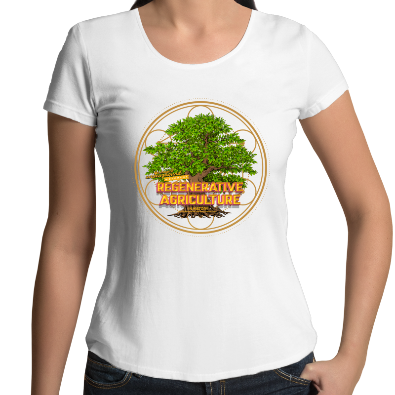 'Tree geometry' AS Colour Mali - Womens Scoop Neck T-Shirt