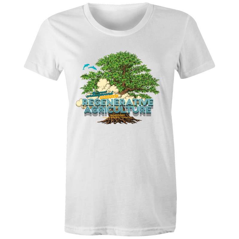 'Tree cloud'  AS Colour Wafer - Womens Crew T-Shirt