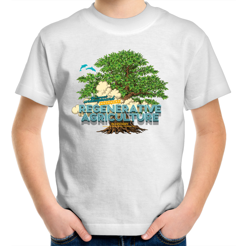 'Tree cloud' AS Colour Kids Youth Crew T-Shirt