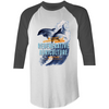 ' Dolphins'  AS Colour Raglan - 3/4 Sleeve T-Shirt