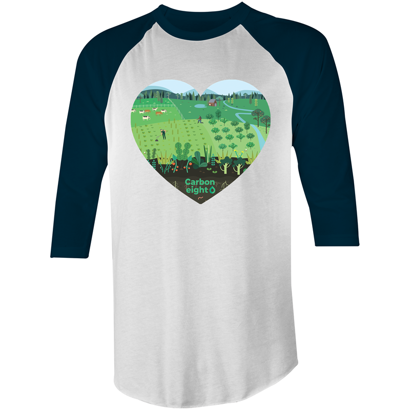 CARBONHEART - AS Colour Raglan - 3/4 Sleeve T-Shirt