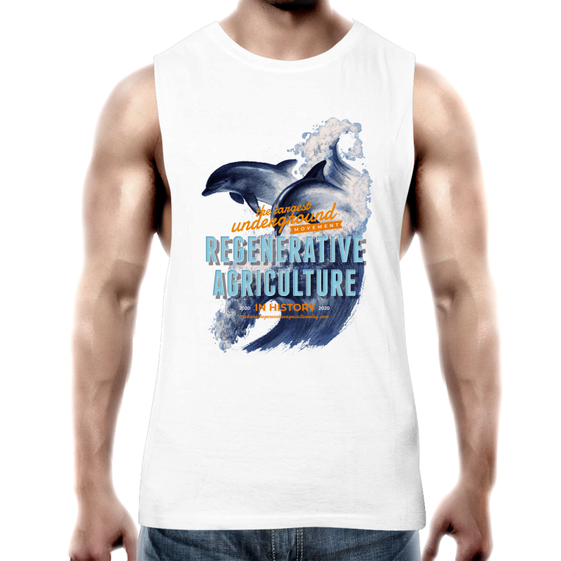 'Dolphins' AS Colour Barnard - Mens Tank Top Tee